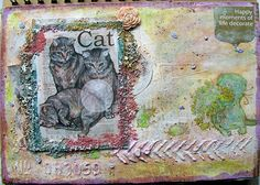 Joanna i scrappasja blog o scrapbookingu: Art journal - koty