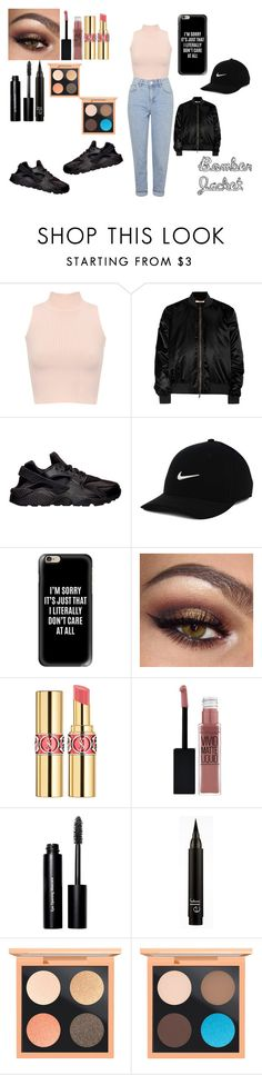 """""""Out with the girls"""" by niaoffcal ❤ liked on Polyvore featuring WearAll, Givenchy, NIKE, Casetify, Yves Saint Laurent, Maybelline, Bobbi Brown Cosmetics, MAC Cosmetics and Topshop"""
