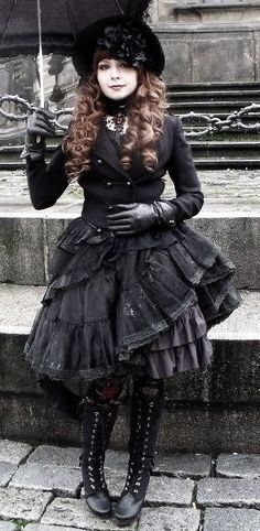 Harajuku: Gothic Lolita style.  @Laura Jayson-Linden B. - You do light, I do dark, we rule the town?