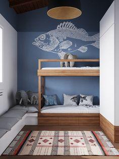 Spectacular Contemporary interior design idea 62 Il pesce è molto bello. Contemporary Interior Design, Decor Interior Design, Interior Logo, Interior Lighting, Interior Ideas, Creative Kids Rooms, Kids Room Design, Design Bedroom, Bedroom Layouts