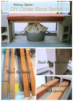 Unique Cinder Block Bench