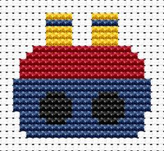 Easy Peasy Ship cross stitch kit from Fat Cat Cross Stitch. Ideal for beginners - please ensure young stitchers are supervised. Finished size approx 7.2cm x 9.3cm. Kit contains 6ct Binca white aida fabric, stranded embroidery cotton, needle, colour chart and instructions. A brand new kit will be sent directly to you by Fat Cat Cross Stitch - usually within 2-4 working days © Fat Cat Cross Stitch