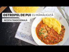 O rețetă tradițională ca la țară, la bunici: ostropel de pui cu sos de roșii, usturoi și pătrunjel proaspăt. Servit cu mămăliguță. Ce deliciu! :) Mashed Potatoes, The Creator, Chicken, Cooking, Ethnic Recipes, Food, Food Dinners, Whipped Potatoes, Kitchen
