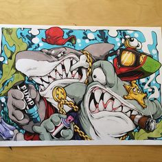 Grrrrrrr... #ironlakstrikers drawing. #cheo #ironlak #shark #sketch