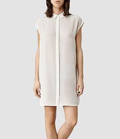AllSaints Giovia Shirt Dress #Refinery29