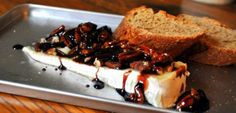 Cherry balsamic baked brie
