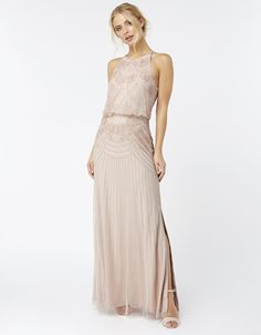 BLAKE FLORAL EMBELLISHED MAXI DRESS IN PINK. Click on image to view prices, other colours and matching accessories. #WeddingHeart #Bridesmaids #Bridesmaid #BridesmaidDress #Wedding #BridesmaidsDresses #PartyDress #Monsoon #weddingheart.co.uk #MaidOfHonour #ChiefBridesmaid