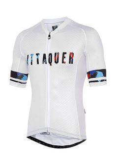Core Brush Jersey White (Logo Print) Cycling Jersey Attaquer - 1