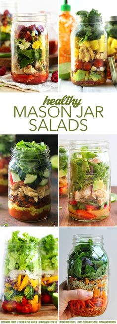 HEALTHY Mason Jar Salads