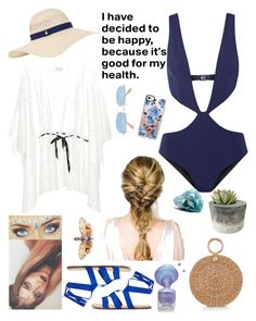 """""""Swim in Blue"""" by myrasaviera on Polyvore featuring Accessorize, Casetify, Aranáz, Ray-Ban and FELLA"""