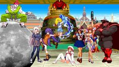 This content is composed of Rare Akuma Team and Vega Team, and the two sides add three female characters. In a Turns multiplayer mode, duel on the Street. Street Fighter Characters, Female Characters, King Of Fighters, Bison, Times Square, Two By Two, Games, Gaming, Toys