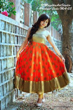 Lovely Orange Anarkali