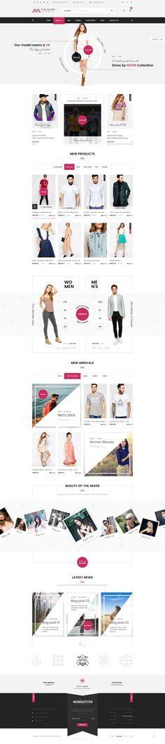 The Mixer - Creative Shop PSD Templates - PSD Templates