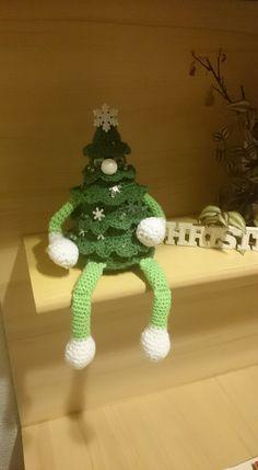 Kantenhocker-Weihnachtsbaum nach einem Cal von Christine Kerkeling