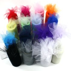 "Cheap Tulle - 6"" X 25 Yard spools = $2.25"
