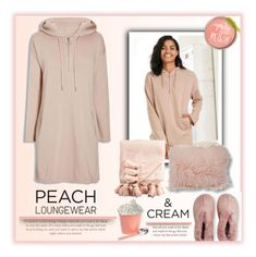 """""""Peach Lougewear"""" by fassionista ❤ liked on Polyvore featuring Uniqlo, Le Coterie, Kate Spade, Marigold Artisans, peach, icecream, fashionset and beautifulpeopleofcolor"""