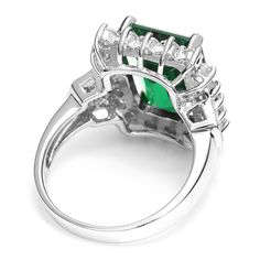 Luxury Jewelry Big 9.5ct Genuine Emerald Ring Solid 925 Sterling Silver Only $29.99 => Save up to 60% and Free Shipping => Order Now! #Bracelets #Mystic Topaz #Earrings #Clip Earrings #Emerald #Necklaces #Rings #Stud Earrings