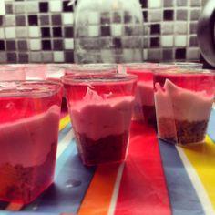 mini jelly cheesecakes <3