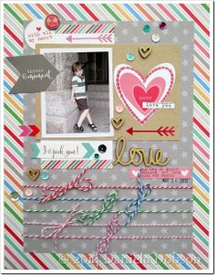 #papercraft #scrapbook #layout   Love by Daniela Dobson