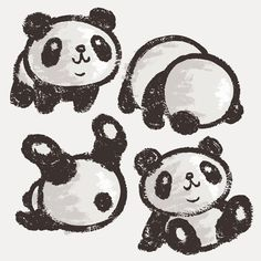Panda by Toru Sanogawa, via Behance