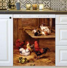 Magnetic Dishwasher Sticker Pig Decor Kitchen Dish Washer Cover for Kitchen Decor Full Size