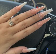 100 spring nail art ideas 2020 best spring nails 2020 mismatched nail art designs spring nail art designs nail art designs p Best Acrylic Nails, Summer Acrylic Nails, Neutral Acrylic Nails, French Tip Acrylic Nails, Summer Nails, Nail Swag, Coffin Nails Long, Long Nails, Long French Tip Nails