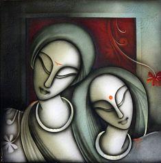 Art Painting Oil Modern Canvases Ideas For 2019 Kalamkari Painting, Madhubani Painting, Zantangle Art, Mural Art, Art Painting Gallery, Sketch Painting, Indian Art Paintings, Modern Art Paintings, Buddha Art