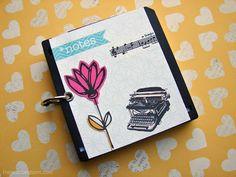 [Inspirações by Fran]: Bloquinho com Disquetes #scrapbook