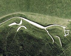 ANCIENT SCULPTURE OF A HORSE,TO BE SEEN FROM THE AIR ONLY, FLIGHT TRAVEL WAS POSSIBLE.