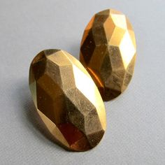 Geometric Copper Studs now featured on Fab.