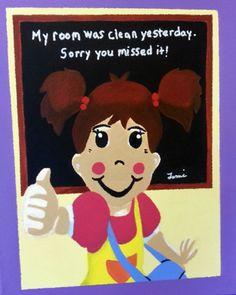 My Room was Cleaned  Children's Illustration *Artist Tami Dalton*  See More About: muralsbytami.com *https://www.facebook.com/muralsbytami