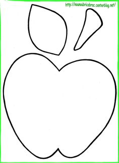 Apple Decoration Ideas Lovely Fresh Apple themed Kitchen Home Decoration Ideas Designing September Art, September Crafts, Fall Preschool, Preschool Crafts, Crafts For Seniors, Crafts For Kids, Coloring For Kids, Coloring Pages, Apple Template