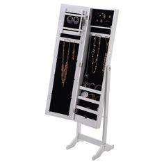 Beautiful Black Mirror Jewelry Cabinet
