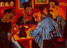 Ernst Ludwig Kirchner - Mittagessen des Bauern (1920)