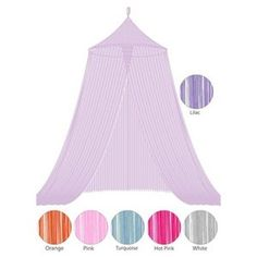 Bacati String Bed Canopy in Lilac