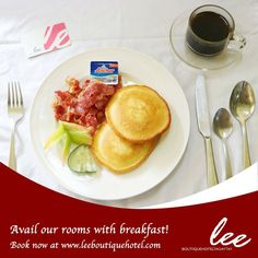 Book now at www.leeboutiquehotel.com and avail our website exclusive promos for affordable room rates with breakfast that you will surely love. #LeeBoutiqueHotel