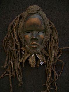 Vintage Dan African Mask Long Braids and Beard by TheGardenAndMore, $195.95