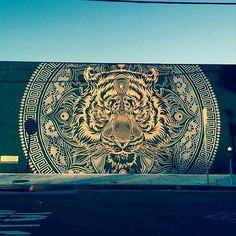 Something new from Chris Saunders in Los Angeles USA   street art   street art news   Street Artists   Urban artists   Urban Art   graffiti   mural   travel   Schomp MINI
