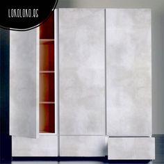 Vinilo adhesivo para armario. Textura de hormigón blanco