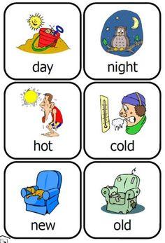 Fran's Freebies: Opposites Cards preschool fun set