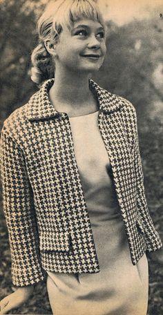 Boon en Staak Nieuws: Pied-de-Poule jasje uit de jaren 60 (Dutch) de jaren, pieddepoul jasj, free pattern, jaren 60, jaren 5060, vintag kleedj, knit patterns