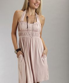 Light Pink Pioneer Halter Dress - Women | Daily deals for moms, babies and kids