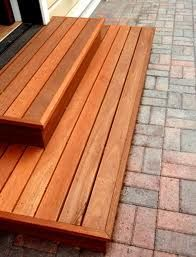I'd need simple wooden steps like these with grates so the rain goes straight through and doesn't freeze in winter.