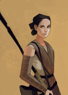 The Art of Kat Tsai - Rey fanart from Star War Episode VII The Force Awakens