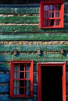Red Windows (by Robert Louden)