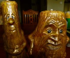 woody & stumpy bees wax hand made hand by CANDLESOAPHOMEMADE, $58.00