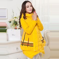 New winter Maternity coat Outerwear Expansion Elegant warm Clothing For Pregnant Women Maternity Winter Coat, Warm Outfits, Sportswear, Costumes, Formal, Elegant, Stylish, Casual, Clothing