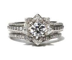 Wedding SET  Gorgeous UNIQUE Flower Rose Diamond by BeautifulPetra, $6250.00