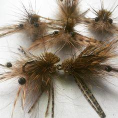 Brush and deer hair crab fly for Triggerfish.