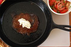 Ribeye Steaks with Porcini Rub and Rosemary Butter. -- pair with fresh salad for a complete meal!